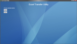 Excel Transfer Utility Home