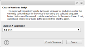 Script Output For Create Versions
