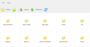 Sitecore Developer Toolbox File Explorer