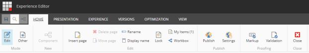 Sitecore 9 Experience Editor