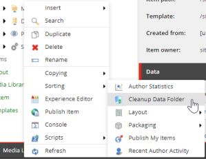 SXA Data Folder Cleanup